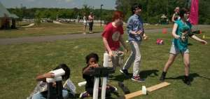 Race Around the World student field game event game