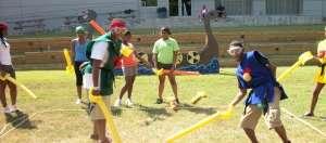 Viking Games student team building- sword duel activity