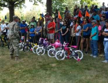 donating toys and bicycles to military families
