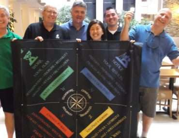 group posing with the Teamwork Compass(r)