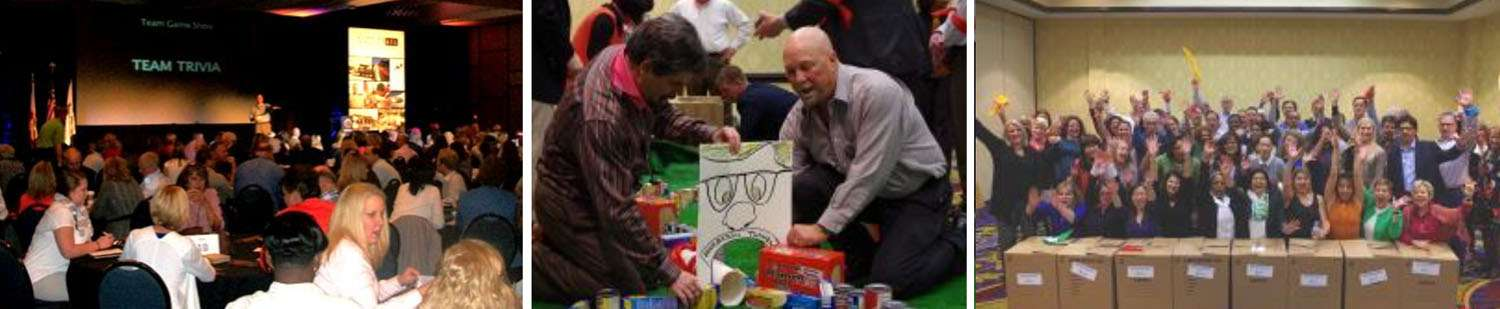 Game Show Food Drive charity team building activity