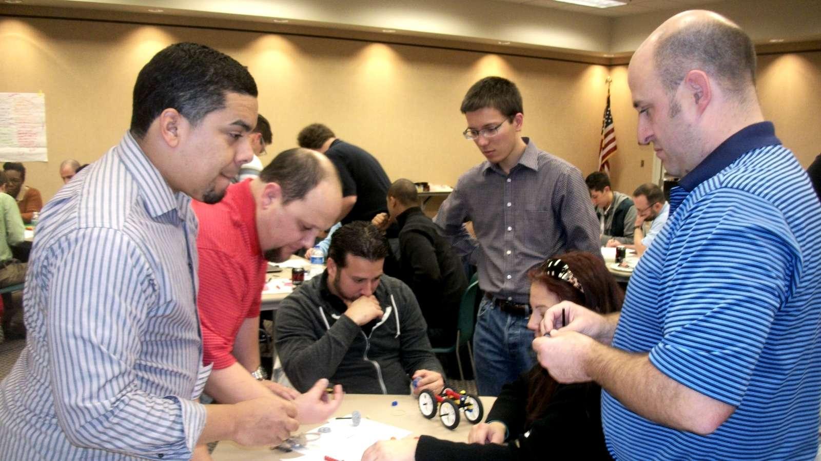Interactive team building-Hands-on teamwork challenge