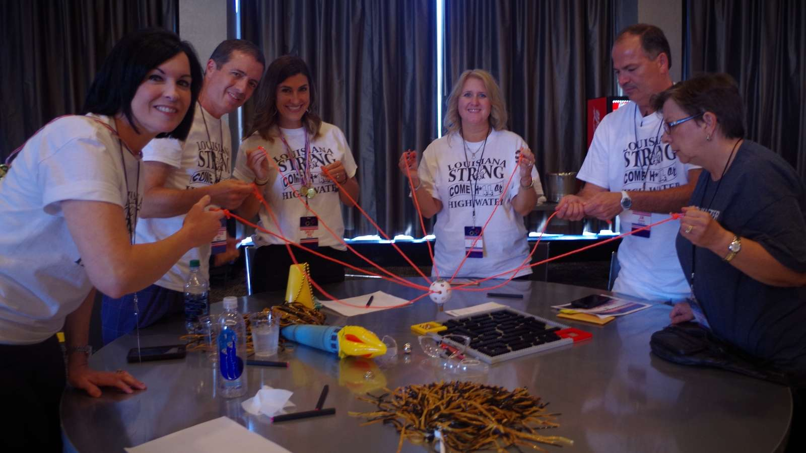 hands-on indoor team building teamwork challenge