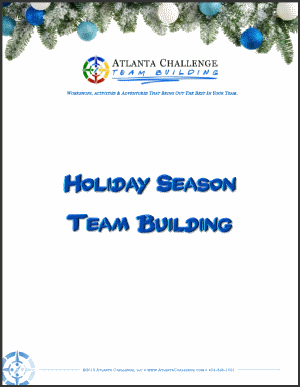 office Christmas party & holiday team building activities - PDF cover