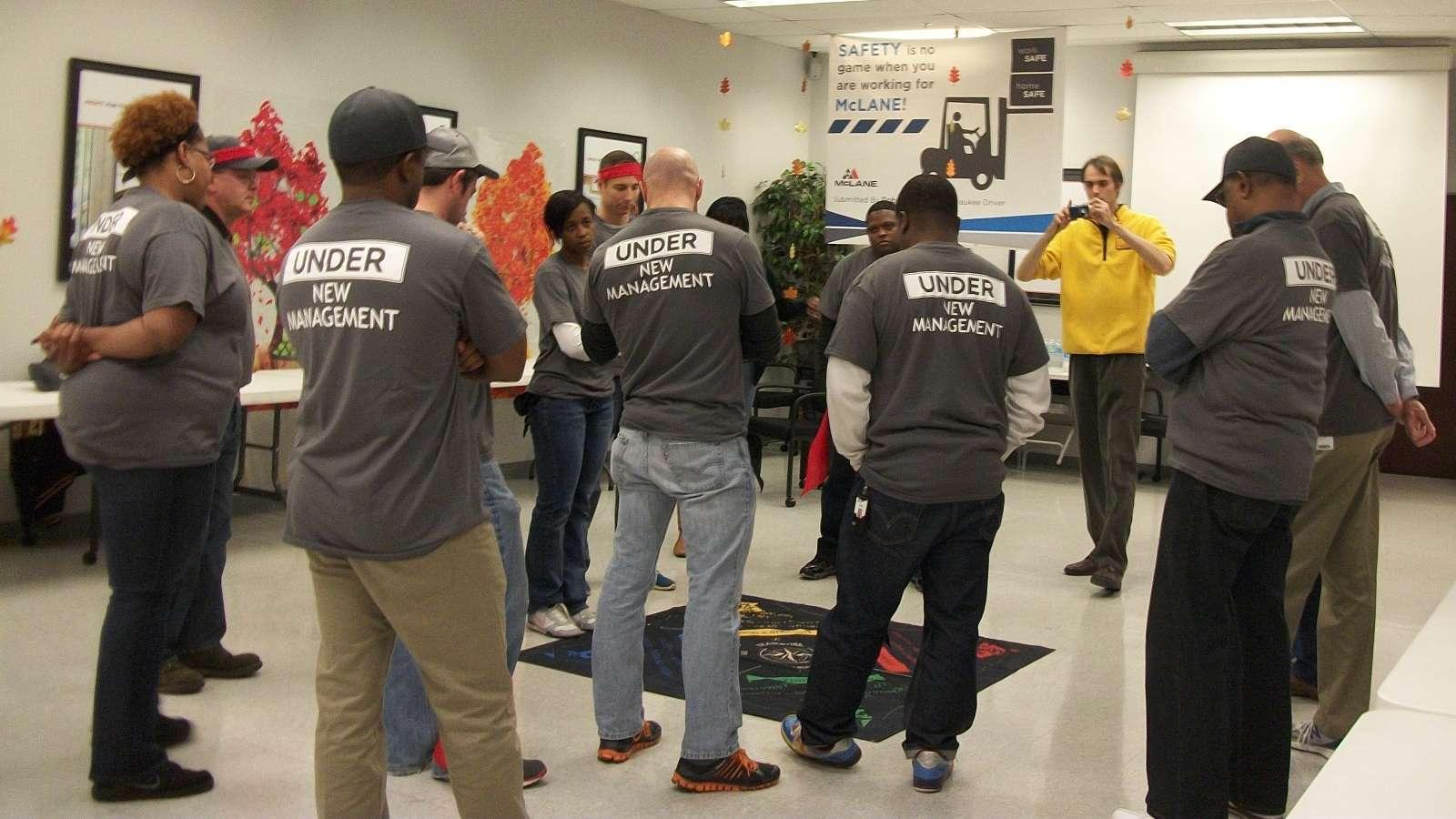 leaders practicing leadership skills