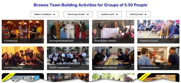 Find Team Building Ideas for Small Groups
